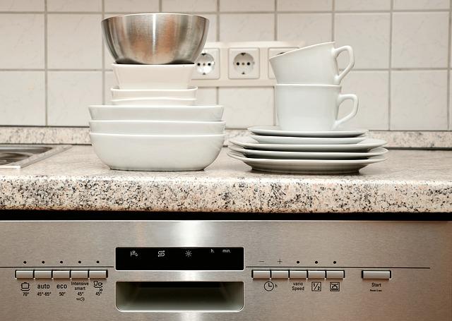 nádobí na myčce