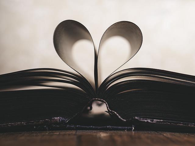 srdce v knize