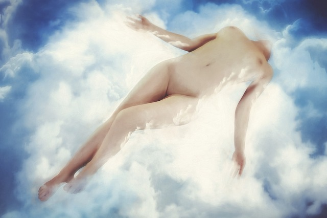 transcending into a heavenly state of mind through orgasm